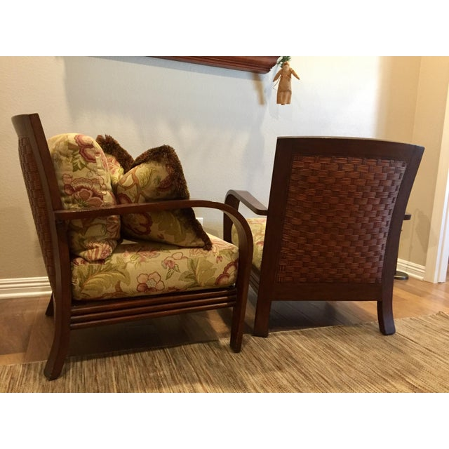 Ethan Allen Ethan Allen Jamaica Arm Chairs - a Pair For Sale - Image 4 of 11