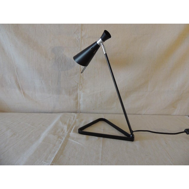 Mid-Century Modern Style Black Metal Desk Lamp For Sale - Image 4 of 6