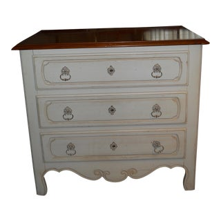 Ethan Allen White Wooden Chest of Drawers