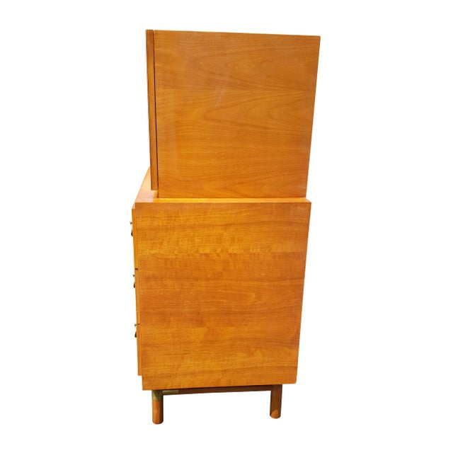 Wood 1960's Red Lion Mid-Century Modern Dresser For Sale - Image 7 of 10
