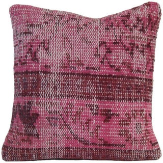 Pink Handmade Kilim Pillow Cover For Sale