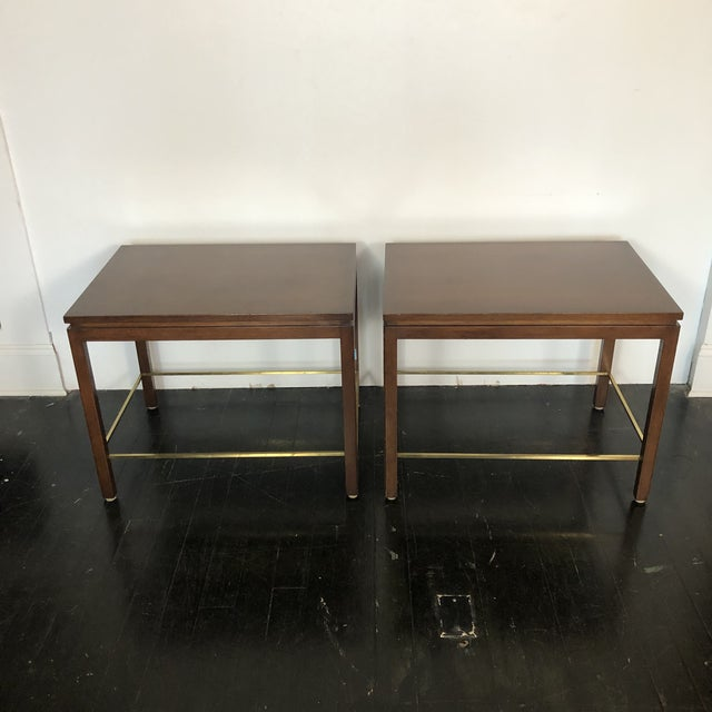 Dunbar Furniture Edward Wormley Dunbar Side Tables - a Pair For Sale - Image 4 of 12