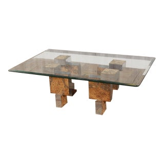 Paul Evans Style Mid-Century Modern Cityscape Coffee Table For Sale