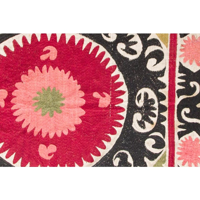 Uzbekistan creme, rose, black 100% cotton Tapestry