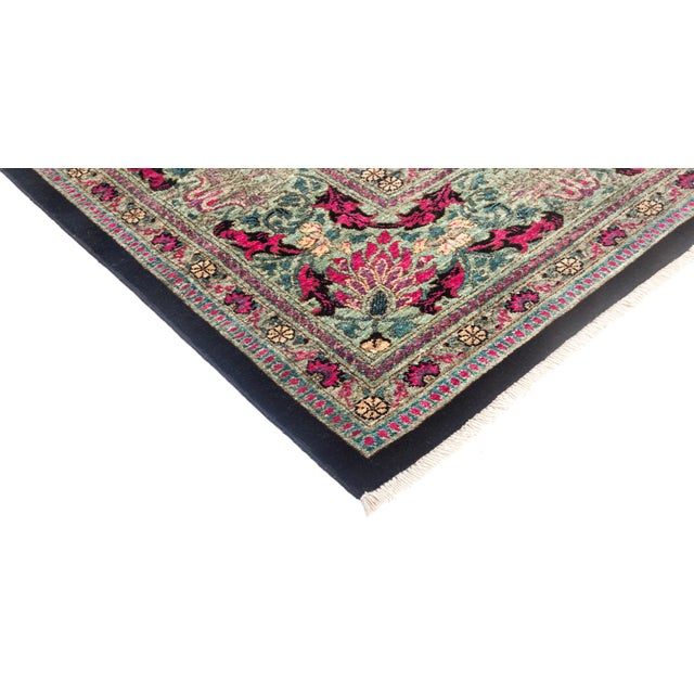 """Eclectic Hand Knotted Area Rug - 8' 1"""" X 10' 3"""" - Image 2 of 4"""