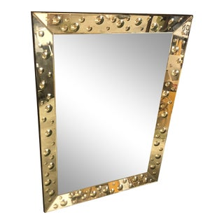 Contemporary Bubble Framed Rectangle Wall Mirror For Sale