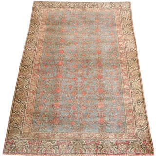 Early 20th Century Antique Khotan Handmade Rug - 4′10″ × 8′9″ - Size Cat. 5x8 6x9 For Sale