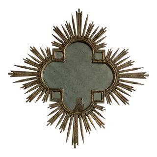 Sunburst Cross Wall Mirror For Sale