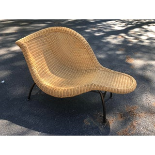 Vintage Modern Wicker Chaise Lounge Preview