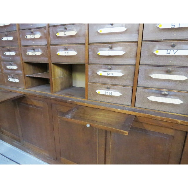 1900 - 1909 Antique French Notary Cabinet For Sale - Image 5 of 6
