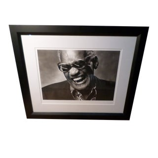 Ray Charles Photograph by Norman Seeff, Los Angeles, 1985 For Sale
