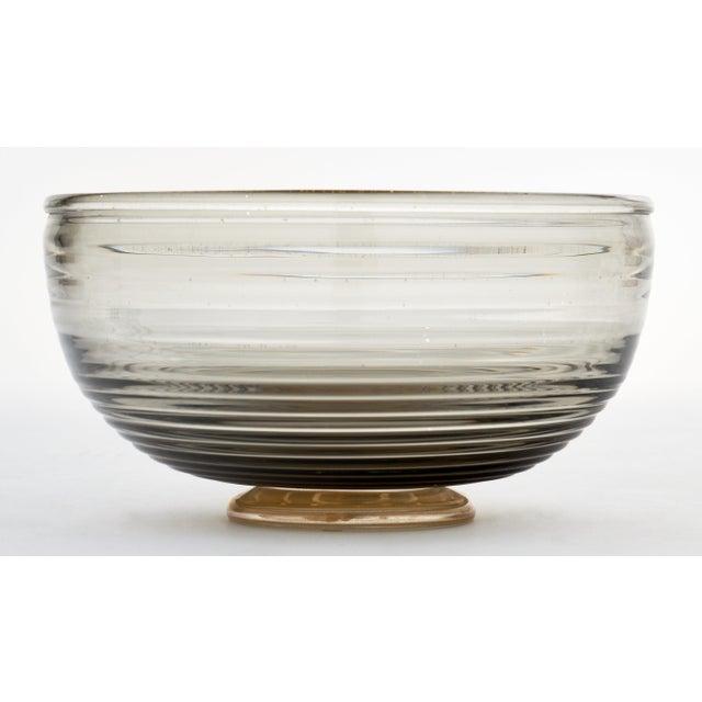 Contemporary Gray and Avventurina Murano Glass Bowl For Sale - Image 10 of 11