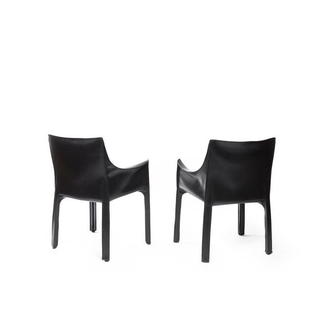 Mario Bellini Vintage Black Cassina Chairs - a Pair For Sale - Image 4 of 5