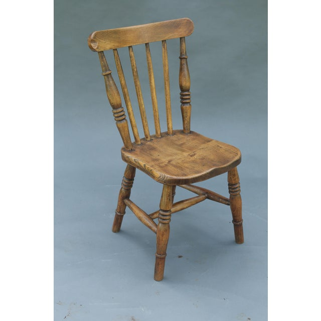 Antique English Elm Child's Chair - Image 2 of 8