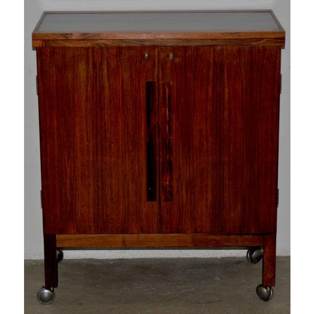 Danish Modern Rosewood Bar Cart by Torborn Afdal for Mellemstrands C.1960s For Sale - Image 13 of 13
