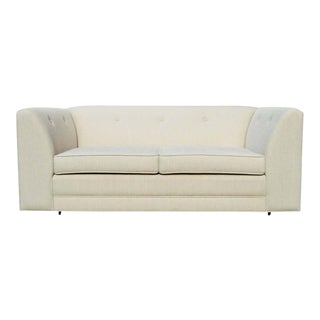 Minimalist Midcentury Loveseat With Clean Lines For Sale