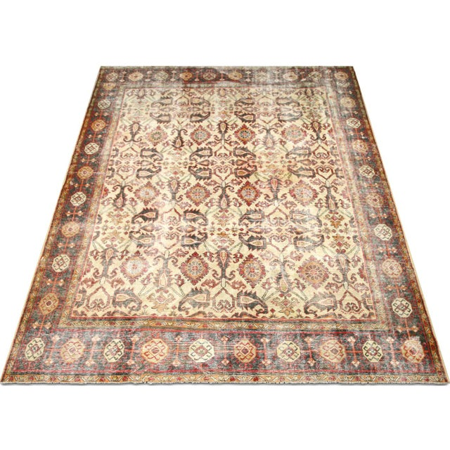 """1930s 1930s Persian Mahal Carpet - 9'6"""" X 12'6"""" For Sale - Image 5 of 7"""