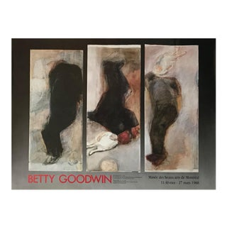 1988 Canadian Contemporary Poster, Betty Goodwin, Montreal Museum of Fine Arts For Sale