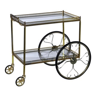French Modern Rolling Bar Cart