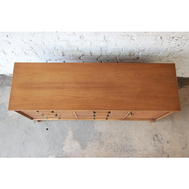 Brown Mid-Century Modern Long Dresser by Century Furniture For Sale - Image 8 of 10