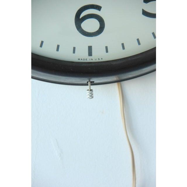 Large Vintage Mid-Century Industrial School House Clock - Image 5 of 5