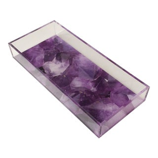 DWM | MALOOS Amethyst Lucite Tray For Sale