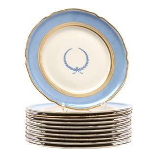 Rosenthal Porcelain Dinner Plates - Set of 11 For Sale