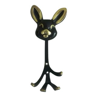 Bunny Wall Hook by Walter Bosse for Hertha Bailer, 1950s For Sale