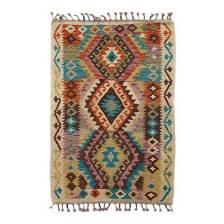 Hand Knotted Flat Weave Kilim Rug For Sale
