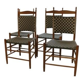 Samuel Timberlake Vintage South Union Ladder Back Chairs - Set of 4