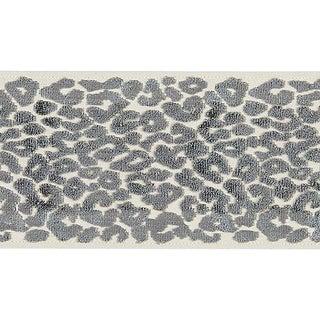 Sample, Scalamandre Leopard Velvet Smoke Tape For Sale