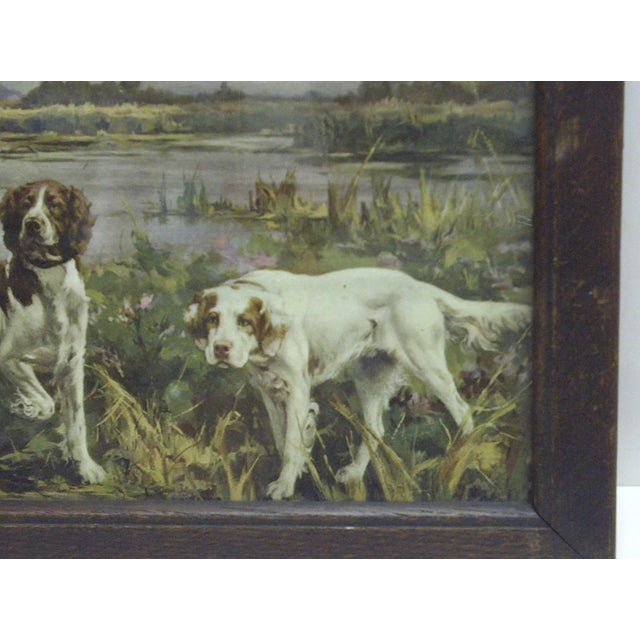 Circa 1900 Bird Dogs Framed Print For Sale - Image 5 of 6