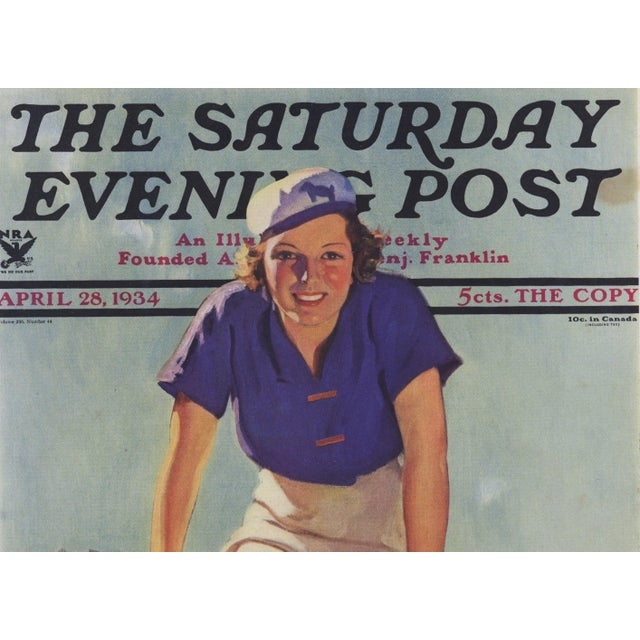 This is a fabulous original vintage magazine cover print from a 1934 edition of The Saturday Evening Post. Clean with...