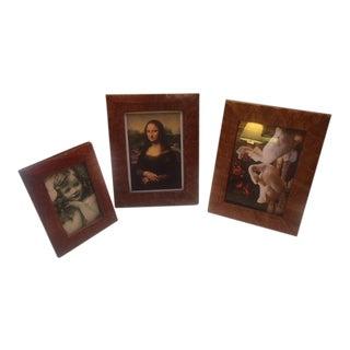 Vintage Alligator Picture Frames- Set of 3 For Sale