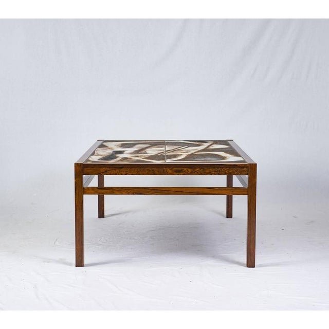 Danish abstract tile coffee table.