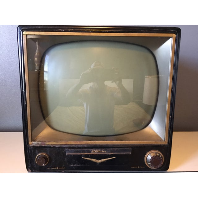 1950s Rca Television in Rare Black Metal Case - Image 2 of 8