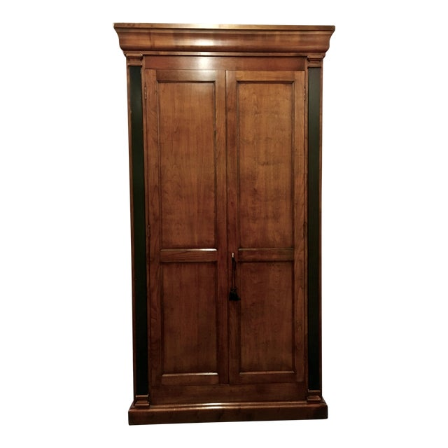 Italian Cherry Wood Armoire For Sale