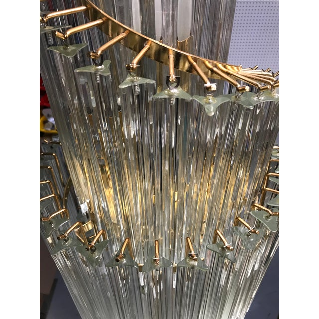 Italian Mid-Century Modern Spiral Glass Chandelier For Sale - Image 10 of 11