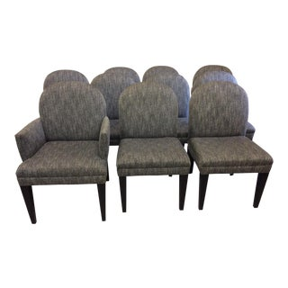 Swaim Parsons Style Upholstered Dining Chairs - Set of 10