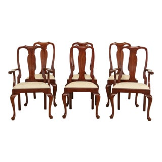 Set of 6 Henkel Harris Cherry Dining Room Chairs For Sale
