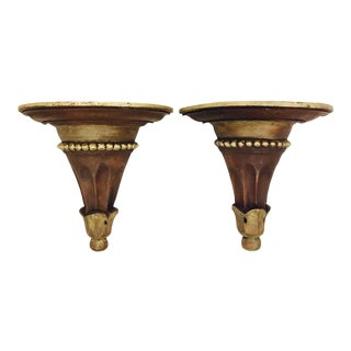 Fluted Sconce Shelves - a Pair For Sale