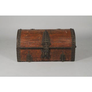 19th Century Asian Antique Brass Clad Dowry Chest Preview