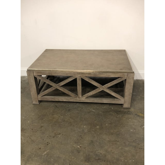 Rustic Lillian August for Hickory White Burleigh Slim Coffee Table For Sale In Atlanta - Image 6 of 6
