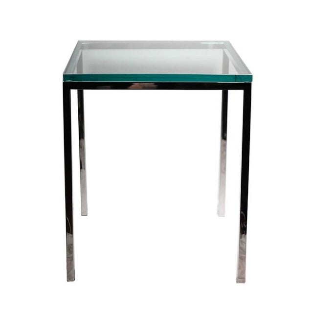 Polished Chrome and Glass Side Table by Brueton C. 1974 - Image 2 of 4