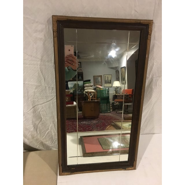 Vintage Art Deco Etched Glass Mirror With Gilded Edge Frame For Sale In Raleigh - Image 6 of 6