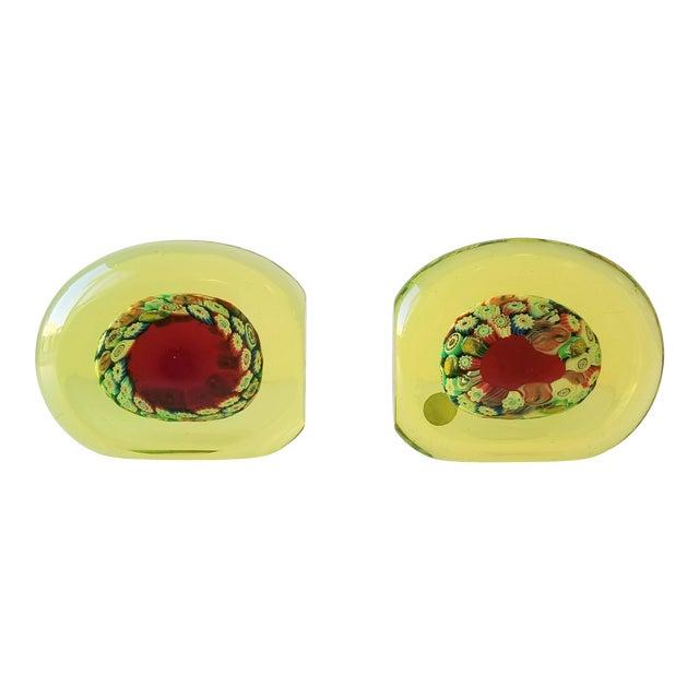 1950s Galliano Ferro Murano Glass Pin Wheel Bookends for Fornasa De Mvran a l'Insegna Moreto - a Pair For Sale