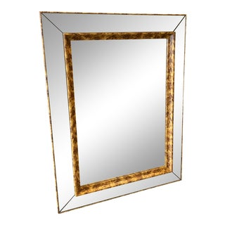 Vintage Painted Tortoise Design Framed Mirror For Sale