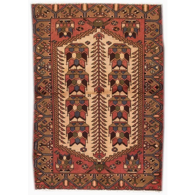 """Vintage Persian Rug, 3'4"""" X 4'10"""" For Sale In New York - Image 6 of 6"""