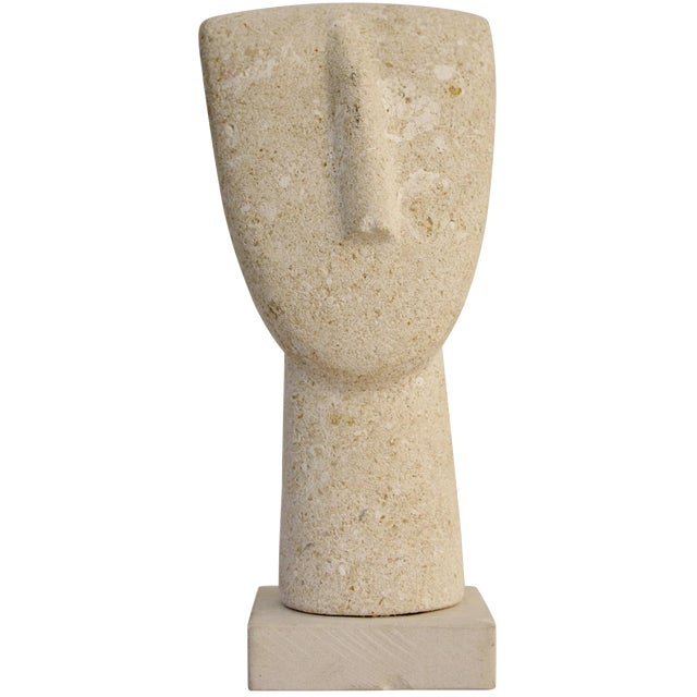 Modernist Cycladic Stone Sculpture - Image 1 of 10