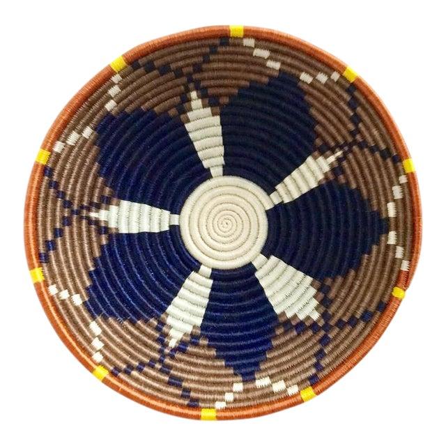 African Boho Woven Basket - Image 1 of 8